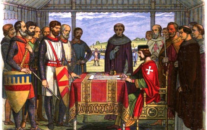 Magna Carta being signed
