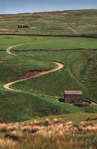 Winding path over the Yorkshire Moors
