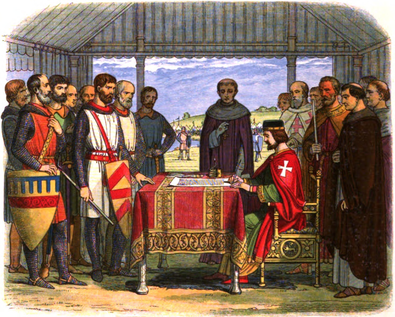 Artist's impression of the signing of Magna Carta