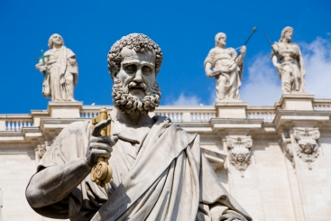Statue of St.Peter in Rome