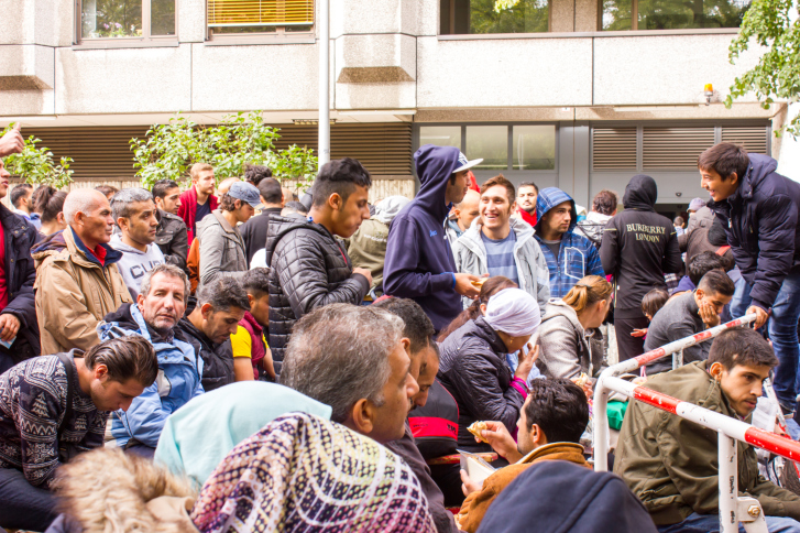 Refugees in Germany waiting for Registration