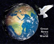 The world from space with a dove of peace